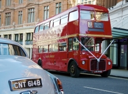 Red London Bus for weddings in London
